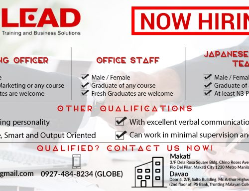 Lead Training and Business Solutions is now HIRING!!!